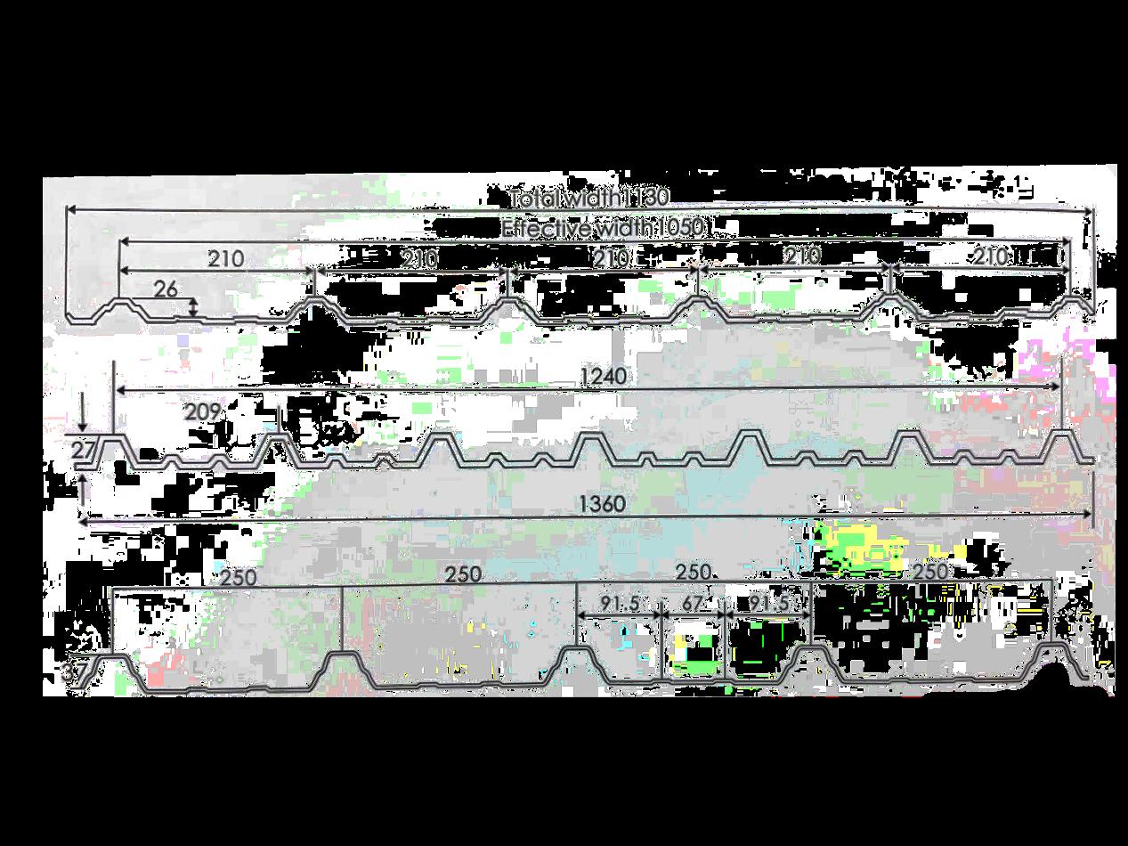 梯形瓦结构图