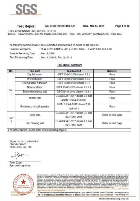 sgs test report